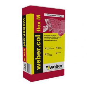 Weber cimento cola flexível M branca 25kg