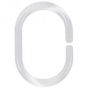 Argolas para varões C-Minor transparente (12 peças)