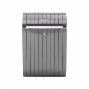 Caixa de correio Piccolo cinza metal