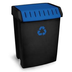Balde de reciclagem azul de 50L