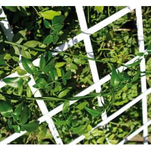 Celosia decorativa em pvc extensível 0,5x 1,5 m branca