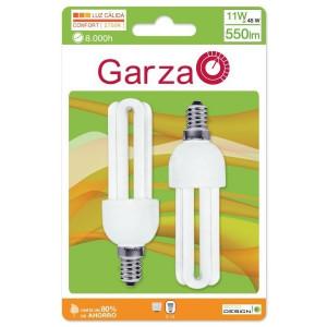 Lâmpada eco Stick T3 11W E14 luz quente (2 unid)