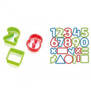 Conjunto de 21 peças de cortar massas de números Del Kids