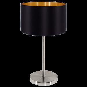 Candeeiro de mesa preto D230