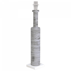 Base para candeeiro de mesa em madeira cinza redondo B90