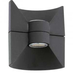 Aplique  2x2.25w Led 380 redondo alumínio antracite